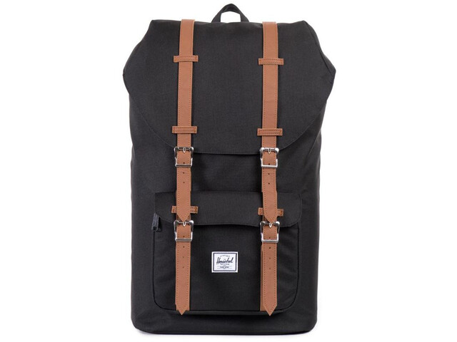 Herschel Little America Selkäreppu, black/tan